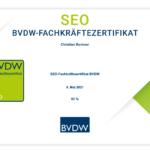 Jetzt mit zertifizierter Qualität: Das SEO-Fachkräftezertifikat des BVDW