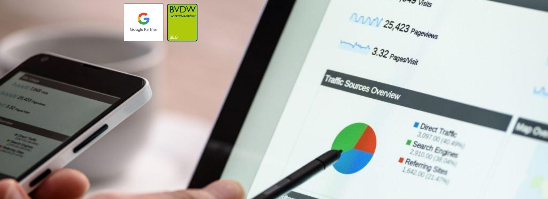 Online Marketing Strategy -  SEO, SEA, Marketing Beratung, Websites in Stuttgart und Umgebung